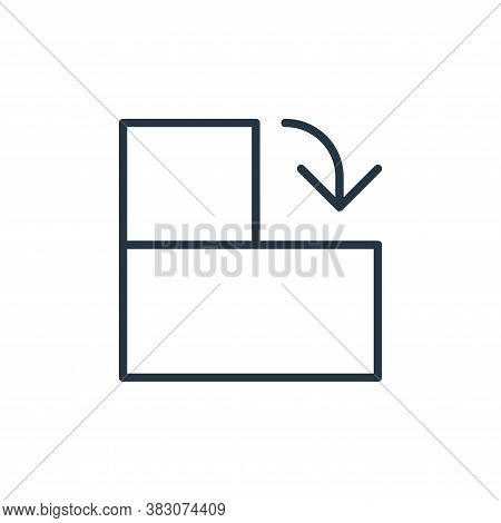 rotate right icon isolated on white background from user interface collection. rotate right icon tre