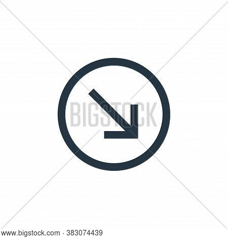 bottom right icon isolated on white background from basic ui collection. bottom right icon trendy an