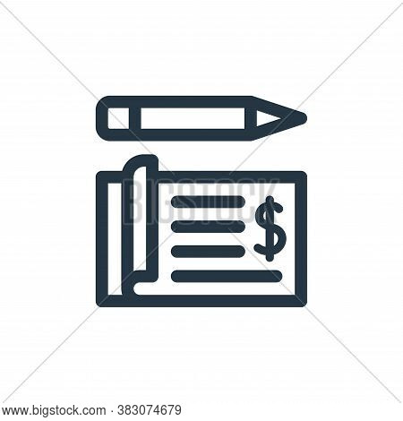 cheque icon isolated on white background from business administration collection. cheque icon trendy