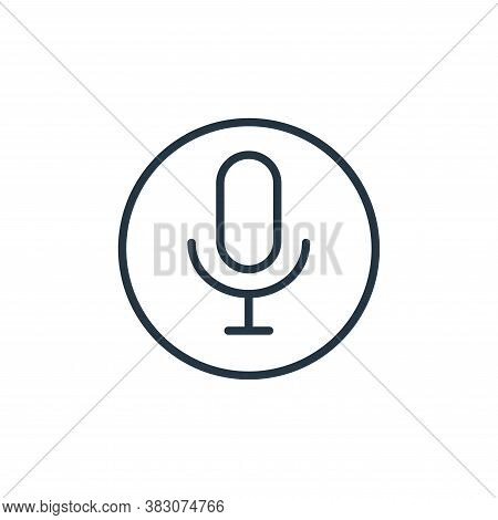 record icon isolated on white background from online learning collection. record icon trendy and mod