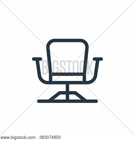 office chair icon isolated on white background from business and office collection. office chair ico