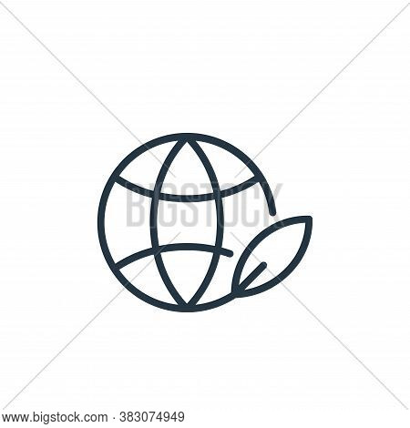globe icon isolated on white background from ecology line collection. globe icon trendy and modern g