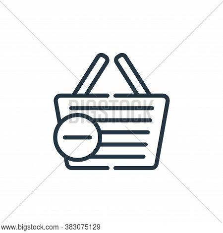 shopping basket icon isolated on white background from cyber monday collection. shopping basket icon