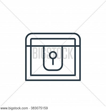 chest icon isolated on white background from jewelry collection. chest icon trendy and modern chest