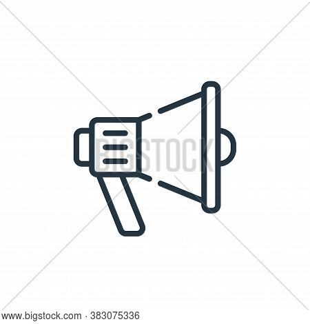 megaphone icon isolated on white background from cyber monday collection. megaphone icon trendy and