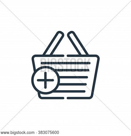 add to basket icon isolated on white background from cyber monday collection. add to basket icon tre