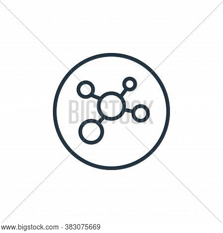 biology icon isolated on white background from online learning collection. biology icon trendy and m