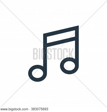 note icon isolated on white background from music collection. note icon trendy and modern note symbo