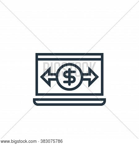transaction icon isolated on white background from business marketing collection. transaction icon t