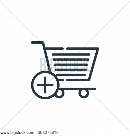 add to cart icon isolated on white background from cyber monday collection. add to cart icon trendy