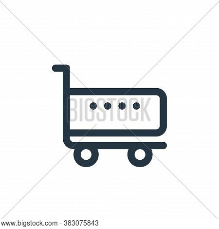 shopping cart icon isolated on white background from fintech collection. shopping cart icon trendy a
