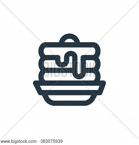 pancakes icon isolated on white background from restaurant collection. pancakes icon trendy and mode
