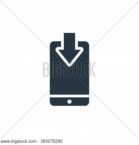 smartphone icon isolated on white background from maps and navigation collection. smartphone icon tr