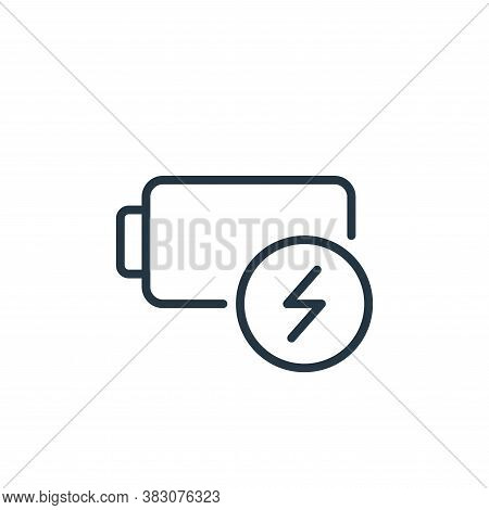 energy icon isolated on white background from ecology line collection. energy icon trendy and modern