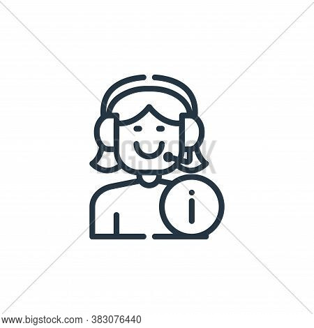 customer service icon isolated on white background from cyber monday collection. customer service ic