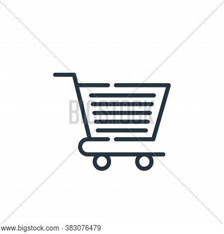 shopping trolley icon isolated on white background from cyber monday collection. shopping trolley ic
