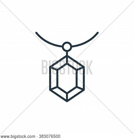 diamond pendant icon isolated on white background from jewelry collection. diamond pendant icon tren