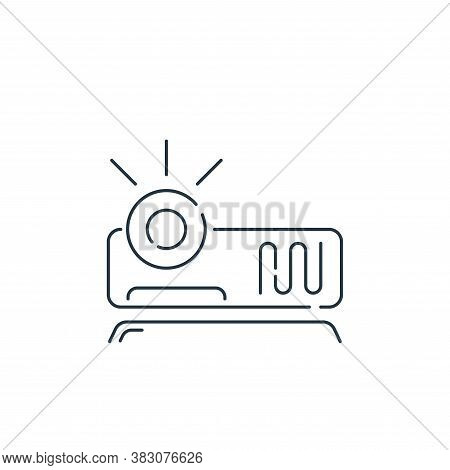 video projector icon isolated on white background from hardware and technology collection. video pro