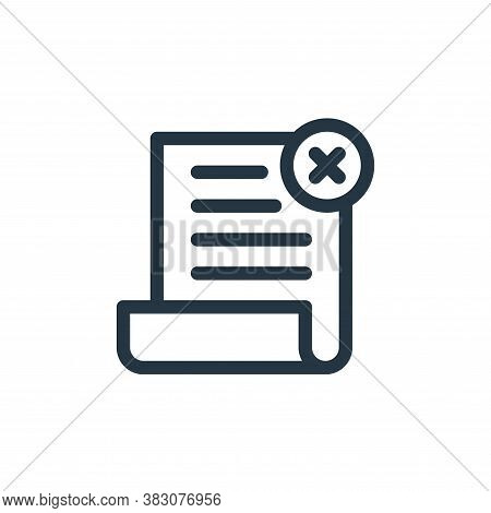 delete icon isolated on white background from business and office collection. delete icon trendy and