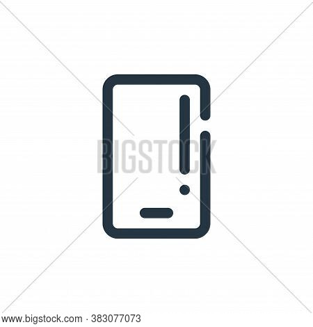 smartphone icon isolated on white background from user interface collection. smartphone icon trendy