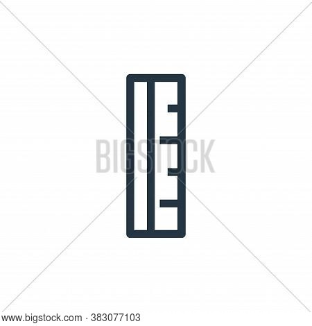 ruler icon isolated on white background from ui collection. ruler icon trendy and modern ruler symbo