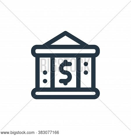 bank icon isolated on white background from fintech collection. bank icon trendy and modern bank sym