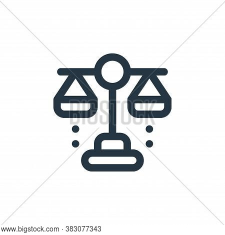 balance icon isolated on white background from fintech collection. balance icon trendy and modern ba