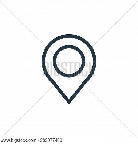 pin icon isolated on white background from ui collection. pin icon trendy and modern pin symbol for