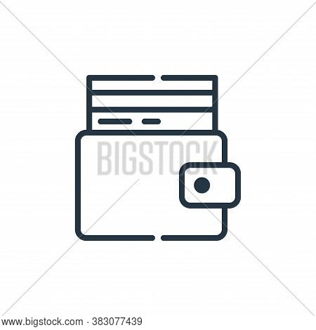 wallet icon isolated on white background from cyber monday collection. wallet icon trendy and modern