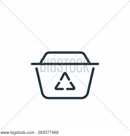 bin icon isolated on white background from ecology line collection. bin icon trendy and modern bin s