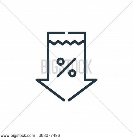 discount tag icon isolated on white background from cyber monday collection. discount tag icon trend