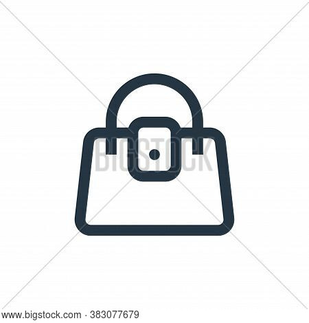 woman bag icon isolated on white background from online shop categories collection. woman bag icon t