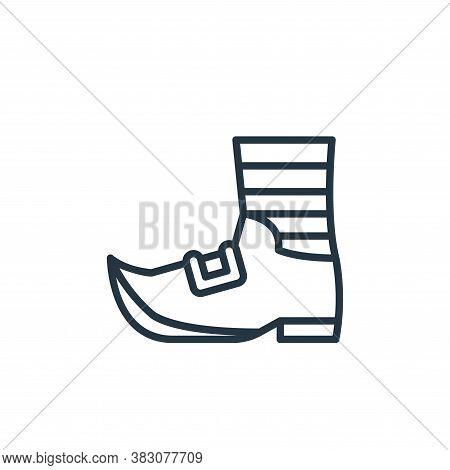 Leprechaun shoe icon isolated on white background from st patricks day collection. Leprechaun shoe i
