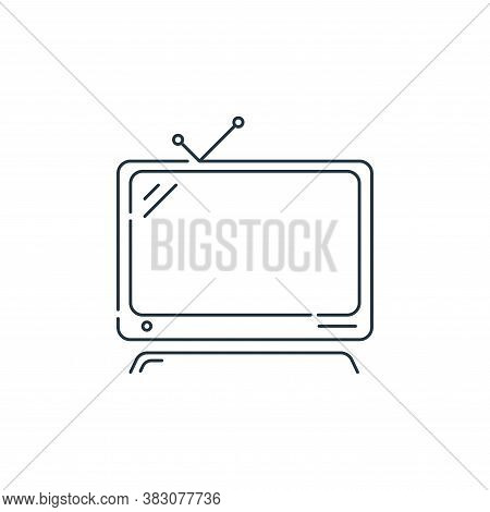television icon isolated on white background from hardware and technology collection. television ico