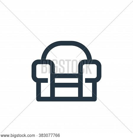 sofa icon isolated on white background from online shop categories collection. sofa icon trendy and