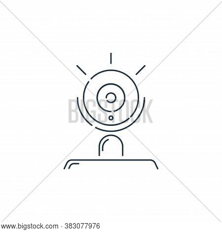 webcam icon isolated on white background from hardware and technology collection. webcam icon trendy