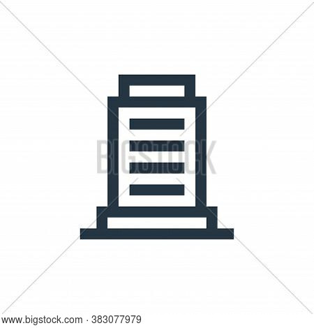 tower icon isolated on white background from property collection. tower icon trendy and modern tower