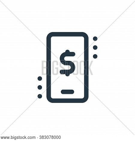 mobile banking icon isolated on white background from fintech collection. mobile banking icon trendy