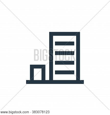 office block icon isolated on white background from property collection. office block icon trendy an