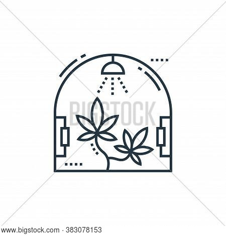 Cannabis icon isolated on white background from cells organs and medical cannabis collection. Cannab