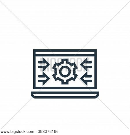 system icon isolated on white background from business marketing collection. system icon trendy and