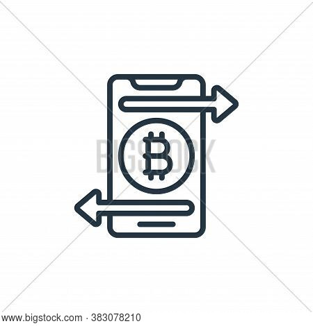 bitcoin icon isolated on white background from internet of things collection. bitcoin icon trendy an