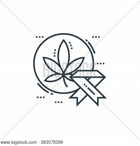 breast cancer icon isolated on white background from cells organs and medical cannabis collection. b