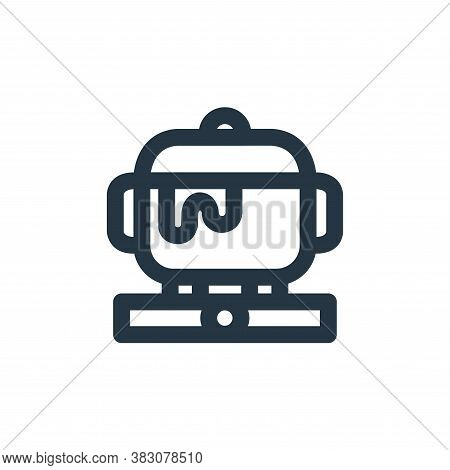 cooking pot icon isolated on white background from restaurant collection. cooking pot icon trendy an