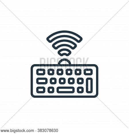 wireless keyboard icon isolated on white background from internet of things collection. wireless key