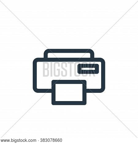 printer icon isolated on white background from miscellaneous collection. printer icon trendy and mod
