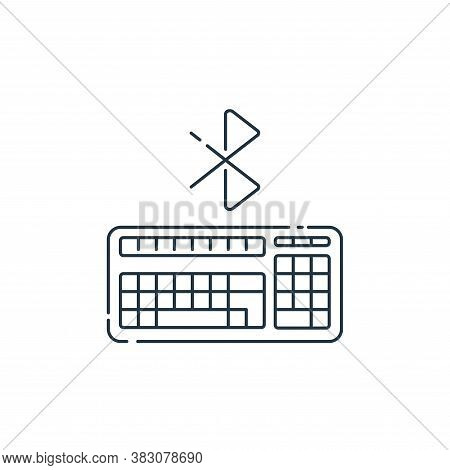 keyboard icon isolated on white background from hardware and technology collection. keyboard icon tr