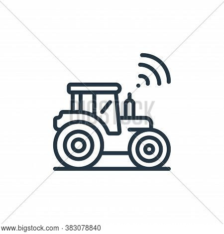 smart farming icon isolated on white background from internet of things collection. smart farming ic