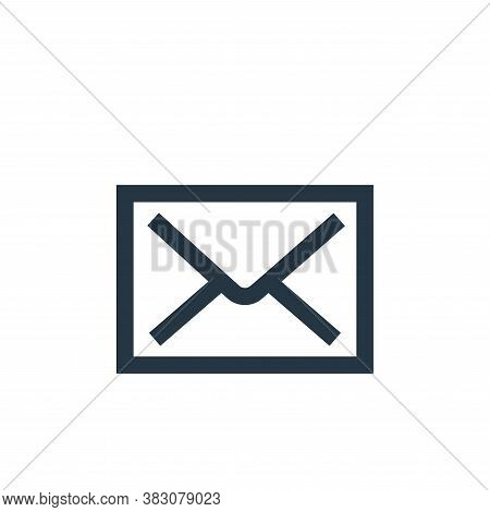email icon isolated on white background from interaction collection. email icon trendy and modern em