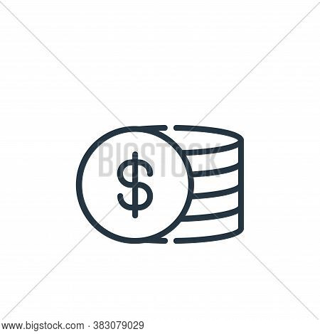 coins icon isolated on white background from cyber monday collection. coins icon trendy and modern c